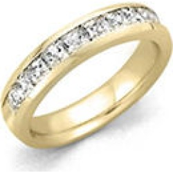 .25 ct. t.w. 14 KARAT YELLOW GOLD Channel-Set Princess Dia Band Sz 10.5 (H-I, I1) found on Bargain Bro Philippines from Sam's Club for $599.00