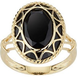 Oval Black Onyx Ring in 14K Yellow Gold 7 found on Bargain Bro from Sam's Club for USD $174.04
