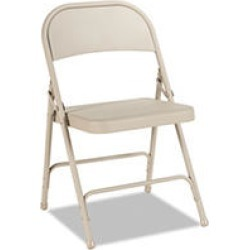 Alera Steel Folding Chair, Tan