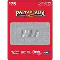 Pappas Restaurants $75 Value Gift Cards - 3 x $25