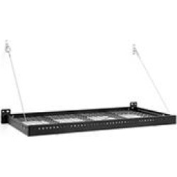 NewAge Products Pro Series 2 ft. x 4 ft. Wall Mounted Steel Shelf in Black (Set of 2)