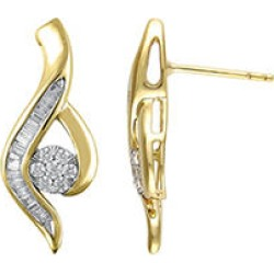 0.46 CT. T.W. Diamond Swirl Earrings in 14K Two-Tone Gold found on Bargain Bro from Sam's Club for USD $455.24