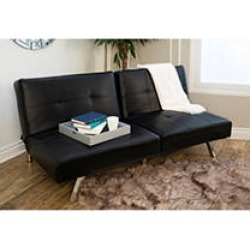 Stanford Convertible Sofa, Black
