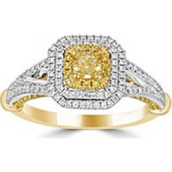 1.00 ct. t.w. Yellow and White Diamond Fashion Ring in 14KY 6 found on Bargain Bro from Sam's Club for USD $910.48