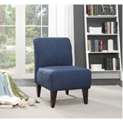 North Chair in Blue Linen
