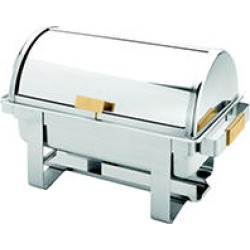 Full Size S/S Roll Top Gold Accent Chafer - 8 qt. found on Bargain Bro Philippines from Sam's Club for $123.86