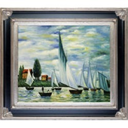 Claude Monet Regates at Argenteuil Hand Painted Oil Reproduction found on Bargain Bro India from Sam's Club for $227.98
