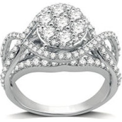 2 CT. T.W. Ring in 14K White Gold 9 found on Bargain Bro from Sam's Club for USD $1,511.64