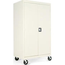 "Alera 66"" Mobile Storage Cabinets, Putty"