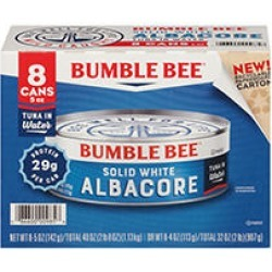 Bumble Bee Solid White Albacore in Water (5 oz. can, 8 pk.) found on Bargain Bro India from Sam's Club for $13.38
