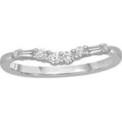 0.25 ct. t.w. 14K White Gold Contour Band with Round and Baguette Diamonds (H-I, I1) - Size 9 found on Bargain Bro Philippines from Sam's Club for $389.00