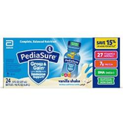 PediaSure Grow & Gain Nutrition Shake for Kids, Vanilla (8 fl. oz, 24 pk.)