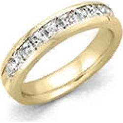 1.00 ct. t.w. 14 KARAT YELLOW GOLD Channel Set Princess Dia Band Sz 4.5 (H-I, I1) found on Bargain Bro Philippines from Sam's Club for $1399.00