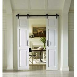 "Four Seasons Outdoor Product 36"" x 84"" Split Barn Door, Classic 6 Panel in White"