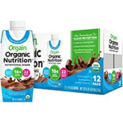 Orgain® Organic Nutrition™ Vegan All-in-One Protein RTD Shake Plant Based Smooth Chocolate (12 ct.)