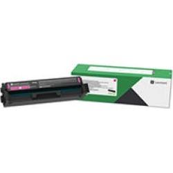 Lexmark C3210M0, Return Program Toner Cartridge, 1500 Page-Yield - Magenta