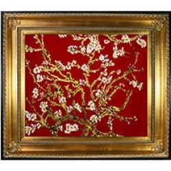 La Pastiche Original Branches of an Almond Tree in Blossom, Ruby Red (gold) Hand Painted Oil Reproduction found on Bargain Bro from Sam's Club for USD $211.26