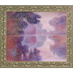 Claude Monet Misty Morning on the Seine, Pink Hand Painted Oil Reproduction found on Bargain Bro India from Sam's Club for $199.88