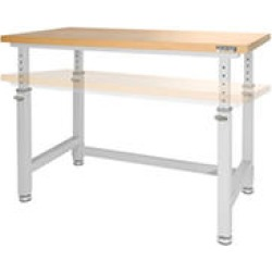 UltraHD® Adjustable Height Heavy-Duty Wood Top Workbench - Granite