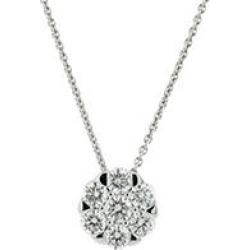 0.71CT. TW. Diamond Stud Pendant in 14K White Gold (I, VS2)