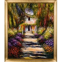 Claude Monet Garden Path at Giverny Hand Painted Oil Reproduction found on Bargain Bro Philippines from Sam's Club for $199.88