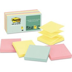 Post-it Pop-up Notes Refill, 3 x 3, 100 Sheet Pads, 12 Pads, 1,200 Total Sheets, Marseille Collection