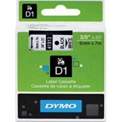 Dymo - D1 Label Tape, Black on White - 3/8