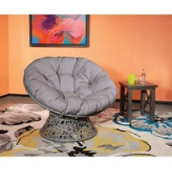 OSP Designs, Papasan Chair - Grey