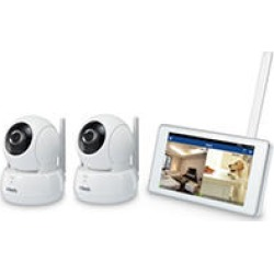 """VTech Wi-Fi IP Camera with 720p HD, Remote Pan & Tilt, Free Live Streaming, Automatic Infrared Night Vision & 5"""" Home"""