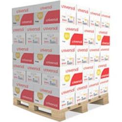 "Universal Copy Paper, 92 Brightness, 20lb, 8 1/2"" x 11"", White - 40 Case Pallet"