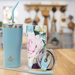 Heritage Set of 2 - 20oz Double Wall Stainless Steel Tumbler -Teal