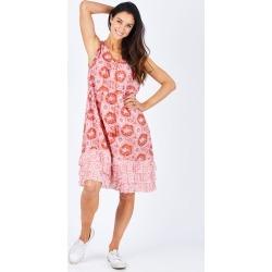 Summer Print Ruffle Hem Dress