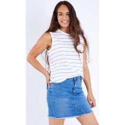 Amy Frayed Hem Denim Skirt found on Bargain Bro Philippines from Birdsnest for $33.20