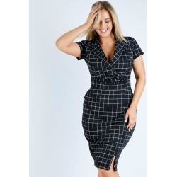 Belle Check Work Dress found on MODAPINS from Birdsnest for USD $72.38