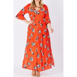 Winter Blooms Maxi Dress found on MODAPINS from Birdsnest for USD $28.40