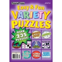 Approved Easy & Fun Variety Puzzles Magazine Subscription, 6 Issues, Puzzles & Games magazines.com