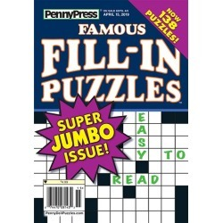 Penny's Famous Fill-In Puzzles Magazine Subscription, 6 Issues, Puzzles & Games magazines.com