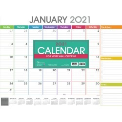 2021 Rainbow Blocks Desk Pad Calendar found on Bargain Bro Philippines from franklinplanner.com for $17.99