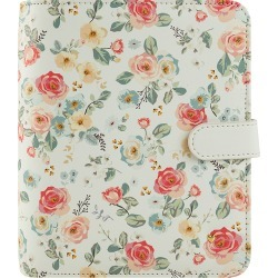 Compact Planner Love Gingham Gardens Simulated Leather Snap Binder - Floral found on Bargain Bro Philippines from franklinplanner.com for $74.95