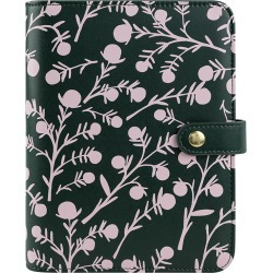 Compact Thalia Simulated Leather Snap Binder - Juniper Floral found on Bargain Bro Philippines from franklinplanner.com for $74.95
