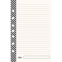 Classic Planner Love Lined Notepad - Gingham Farm found on Bargain Bro Philippines from franklinplanner.com for $4.76