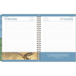 Monarch Leadership One-Page-Per-Day 6 Month Wire-bound Planner - Jul 2020 - Dec 2020 found on Bargain Bro Philippines from franklinplanner.com for $29.95