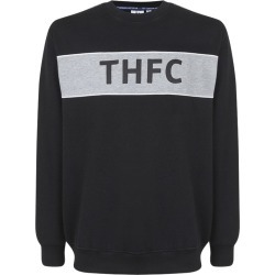 BLACK XL COLOUR PANEL THFC SWEAT TOP