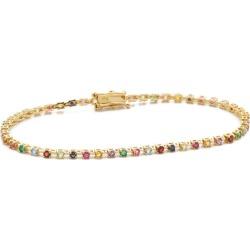 14kt Gold Candy Crush Tennis Bracelet