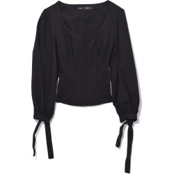 Black Long Sleeve Top With Puff Sleeve found on MODAPINS from shop bazaar for USD $690.00