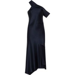 Navy Off-the-shoulder Slip Dress found on MODAPINS from shop bazaar for USD $1186.00