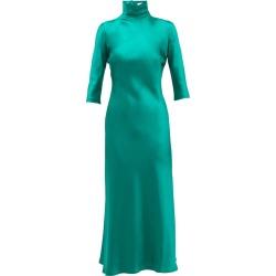 Margot high-neck silk dress found on MODAPINS from shop bazaar for USD $997.00