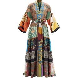 Patchwork vintage-silk robe found on MODAPINS from shop bazaar for USD $2810.00