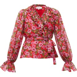 Alix Ruffled Floral-Print Muslin Blouse found on MODAPINS from shop bazaar for USD $152.00