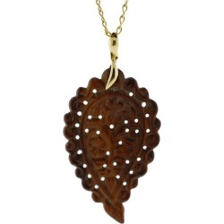 Large Snake Wood India Pendant
